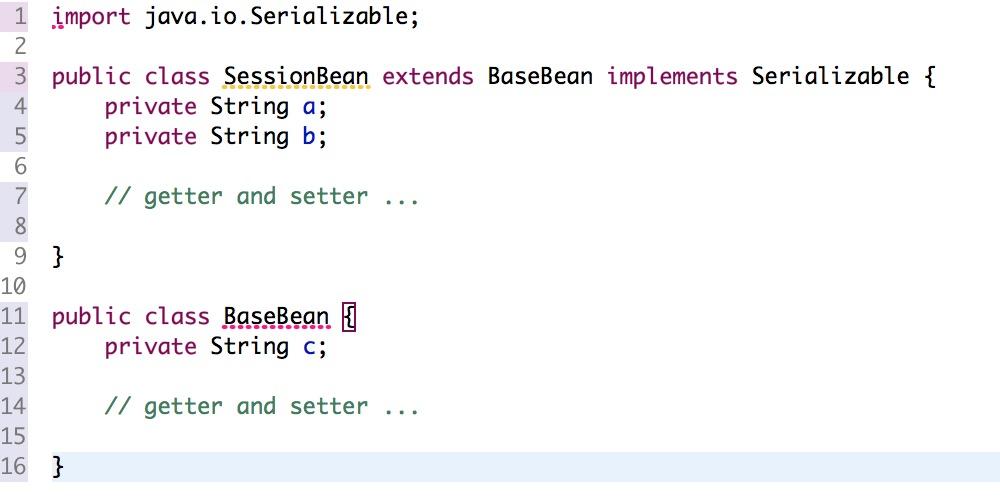 Tomcat Session中数据部分属性值丢失/变为NULL示例代码